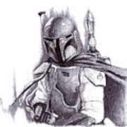 Boba Fett - Star Wars Art Print