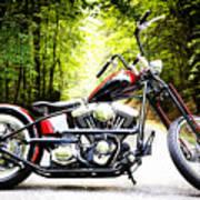 Bobber Harley Davidson Custom Motorcycle Art Print