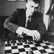 Bobby Fischer 1943-2008 Competing At An Art Print by Everett