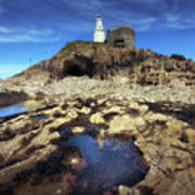 Bob's Cave At Mumbles Lighthouse Art Print