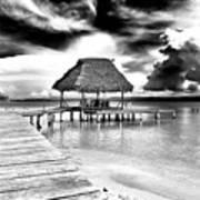 Bocas Del Drago Clouds In Panama Art Print