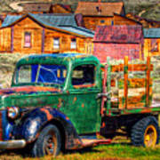 Bodie Ghost Town Green Truck Art Print