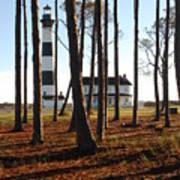 Bodie Island Light Through The Pines Art Print