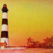 Bodie Island Lighthouse Sunset Art Print