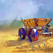 Bodie Ore Wagon Painted Art Print