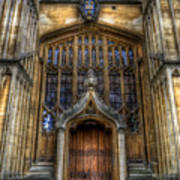 Bodleian Library Door - Oxford Art Print by Yhun Suarez