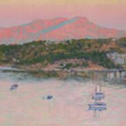 Bodrum.pink Sunrise Art Print