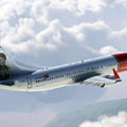 Boeing 737 Norwegian Air Art Print