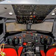 Boeing C-135 Cockpit Art Print