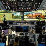 Boeing C-17 Globemaster IIi Cockpit Art Print