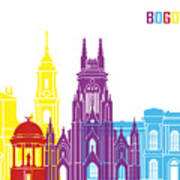 Bogota Skyline Pop Art Print