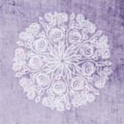 Boho Floral Mandala 1- Art By Linda Woods Art Print