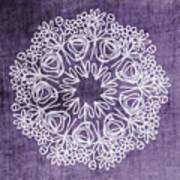 Boho Floral Mandala 2- Art By Linda Woods Art Print