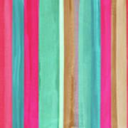 Boho Stripe- Art By Linda Woods Art Print