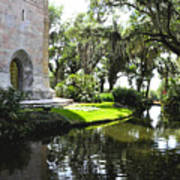 Bok Tower With Moat Art Print
