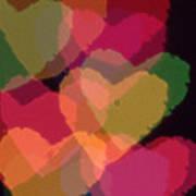 Bokeh Hearts 4 Art Print