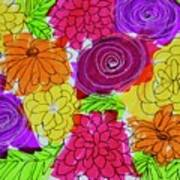 Bold Flowers Art Print