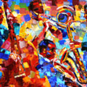 Bold Jazz Quartet Art Print
