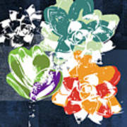 Bold Succulents 1- Art By Linda Woods Art Print