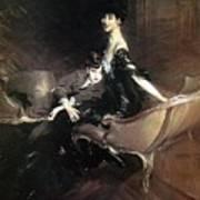 Boldini Giovanni Consuelo Duchess Of Marlborough With Her Son Ivor Spencer Churchill Giovanni Boldini Art Print