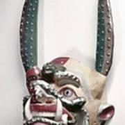 Bolivia: Native Mask Art Print