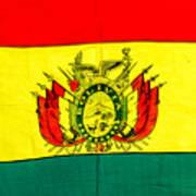 Bolivian Flag Art Print