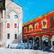 Bologna Plaza Art Print