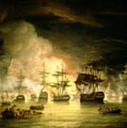 Bombardment Of Algiers Print by Thomas Luny
