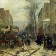 Bombardment Of Paris In 1871 Art Print