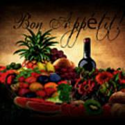 Bon Appetit Art Print by Lourry Legarde