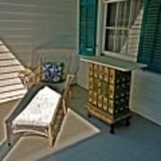 Bon Secour Lounge On The Porch Art Print