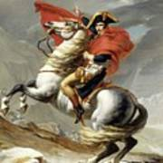 Bonaparte Crossing The Alps Art Print