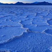 Bonneville Salt Flats At Dusk Art Print