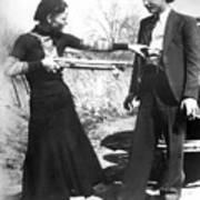 Bonnie And Clyde, 1933 Art Print