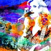 Bonnie Raitt Color Splash Art Print