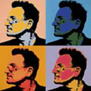 Bono Pop Panels Art Print