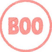 Boo Rubber Stamp Art Print