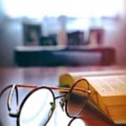 Book And Glasses Art Print