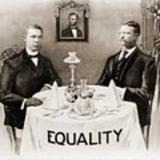 Booker T. Washington Dines Art Print by Everett