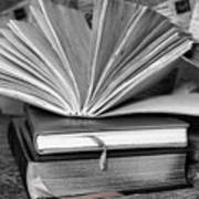 Books In Black And White Art Print