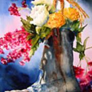 Boot Bouquet Print by Karen Stark