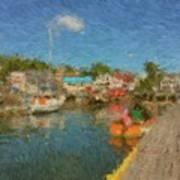 Boothbay Harbor At 5 Art Print