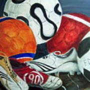 Boots N Balls Art Print