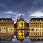 Bordeaux Place De La Bourse  Art Print