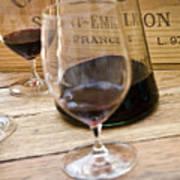 Bordeaux Wine Tasting Art Print by Frank Tschakert