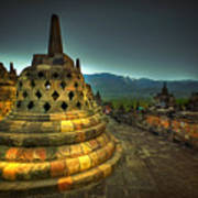 Borobudur Temple Central Java Art Print