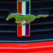 Boss 302 Ford Mustang Emblem Art Print