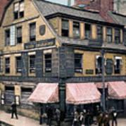 Boston: Bookshop, 1900 Art Print