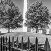 Boston Bunker Hill Monument - Monochrom Art Print