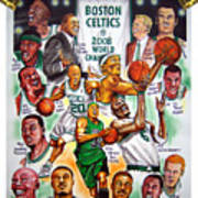 Boston Celtics World Championship Newspaper Poster Art Print